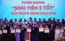 Năm 2018 đạt kỷ lục số lượng 'Sinh viên 5 tốt'