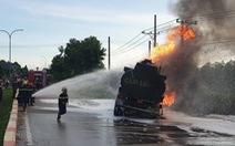 Xe bồn chở xăng dầu, chất lỏng phải giảm tốc độ 20 km/h so với trước đây