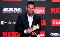 Messi lần thứ 6 đoạt Chiếc giày vàng châu Âu