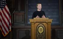 Mark Zuckerberg tuyên bố Facebook không kiểm duyệt 'lời nói dối' của chính trị gia