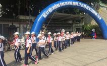 TP.HCM phát động học sinh đi bộ đến trường