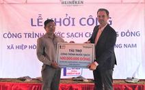 Heineken Việt Nam tài trợ công trình nước sạch tại Quảng Nam
