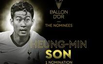 Son Heung Min 'gây sốt' vì được đề cử Quả bóng vàng