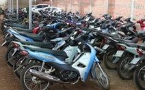 Thu giữ 245 xe máy không chính chủ tại kho hàng cầm đồ