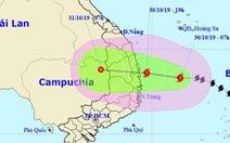 Bão số 5 mạnh lên, khả năng đổ bộ Quảng Ngãi - Khánh Hòa tối nay 30-10