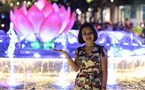 Phố đi bộ Nguyễn Huệ lung linh hơn với đài sen phun nước