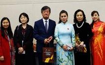 Bà Lê Hoàng Diệp Thảo đến Busan ra mắt Hiệp hội phát triển điện ảnh Việt