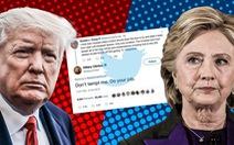 Ông Trump thách tái đấu, bà Hillary nhắn: 'Đừng xúi tôi! Tôi sẽ thắng ông!'