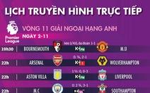 Lịch trực tiếp, kèo nhà cái, dự đoán kết quả bóng đá châu Âu 2-11