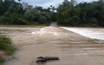 Mưa lớn, nước lũ gây ngập ở vùng núi Quảng Nam