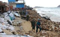 100 tỉ đồng xây lại kè biển Nhơn Hải bị bão đánh sập