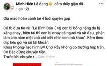 BV Chợ Rẫy: Không có bệnh nhi Lê Đình Bảo, đừng chuyển tiền cho trang Facebook lừa đảo