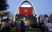 Vũng Tàu lắp màn hình 600 inch phục vụ trận Việt Nam - Thái Lan
