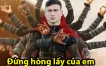 Dân mạng chế ảnh Văn Lâm, Văn Hậu cản bóng xuất thần