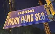 Tháo dỡ biển 'đường Park Hang Seo'