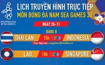 Lịch trực tiếp bóng đá nam SEA Games 2019: Thái Lan và Indonesia đại chiến