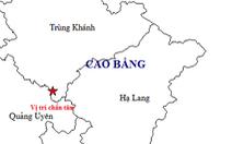 Tiếp tục xảy ra động đất ở Trùng Khánh, Cao Bằng