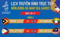 Lịch thi đấu bóng đá nam SEA Games 2019: U22 Malaysia 'tiễn' Philippines khỏi giải?