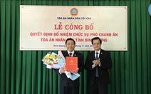 Ông Đặng An Thanh làm phó chánh án TAND tỉnh Bình Dương