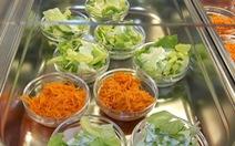 Trường mầm non thử nghiệm cấm thịt trong bữa ăn học sinh