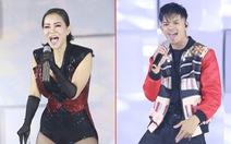 Thu Minh, Trọng Hiếu diễn tại chung kết Hoa hậu Hoàn vũ Việt Nam 2019