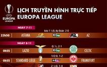 Lịch trực tiếp, kèo nhà cái, dự đoán Europa League ngày 8-11