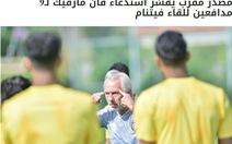 Báo UAE: 'HLV Bert van Marwijk sẽ để UAE đá phòng ngự trước Việt Nam'