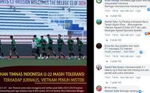CĐV Indonesia 'lên gân' trước trận gặp U22 Việt Nam