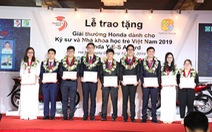 Honda Việt Nam trao tặng 'Giải thưởng Honda Y-E-S lần thứ 14'
