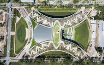 Bangkok mở cửa trang trại trên mái nhà lớn nhất châu Á