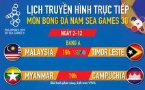 Lịch thi đấu bóng đá nam SEA Games 2019: Gay cấn Myanmar - Campuchia