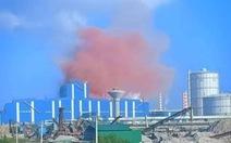 Bụi hồng 'chưa từng thấy' từ nhà máy thép Hòa Phát Dung Quất