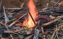 Tiêu hủy 2.818 khẩu súng các loại, hơn 4 tấn tiền chất thuốc nổ