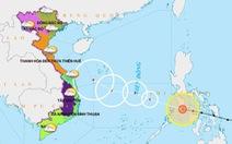 Bão Phanfone giật cấp 14, vào Biển Đông trong tối nay 25-12