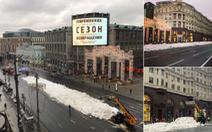 'Thèm' tuyết cho năm mới, thủ đô nước Nga vất vả chở mùa đông từ nơi khác về