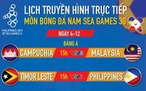 Bóng đá nam SEA Games 2019: Malaysia, Campuchia và Philippines tranh vé