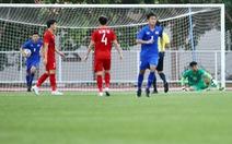 U22 Việt Nam - Thái Lan (hiệp 1) 0-1: Văn Toản mắc sai lầm, Thái Lan mở tỉ số