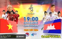 Trực tiếp: Việt Nam gặp Campuchia