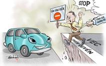Biếm họa doanh nghiệp 'vượt luật' cấm xe vào cao tốc