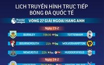 Lịch trực tiếp bóng đá ngày 23-2: Xem Son Heung-min 'làm khổ' Burnley