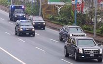 Xe 'Quái thú' của ông Trump đến Hà Nội
