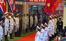 Tàu bọc thép chở Chủ tịch Kim Jong Un đã vào đất Việt Nam