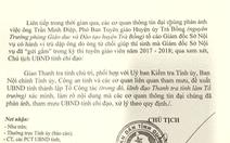 Xác minh thông tin giám đốc Sở Nội vụ trù dập phó Ban tuyên giáo huyện