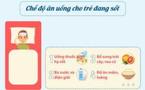 Chăm trẻ ăn uống thế nào để mau chóng hạ sốt, nhanh hồi phục?
