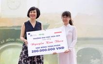 Nữ sinh chuyên Lê Hồng Phong nhận học bổng 200 triệu