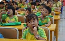 Học trò hào hứng học... đánh răng theo nhạc