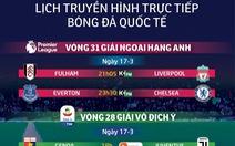 Lịch trực tiếp bóng đá châu Âu 17-3: Liverpool trở lại ngôi đầu?