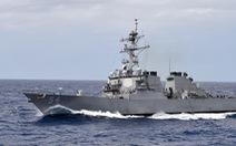 Mỹ điều tàu tuần duyên, khu trục qua eo biển Đài Loan