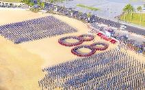 5.000 bạn trẻ Bình Định đồng diễn mừng sinh nhật Đoàn