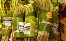 Siêu thị Thái Lan dùng lá chuối gói thực phẩm